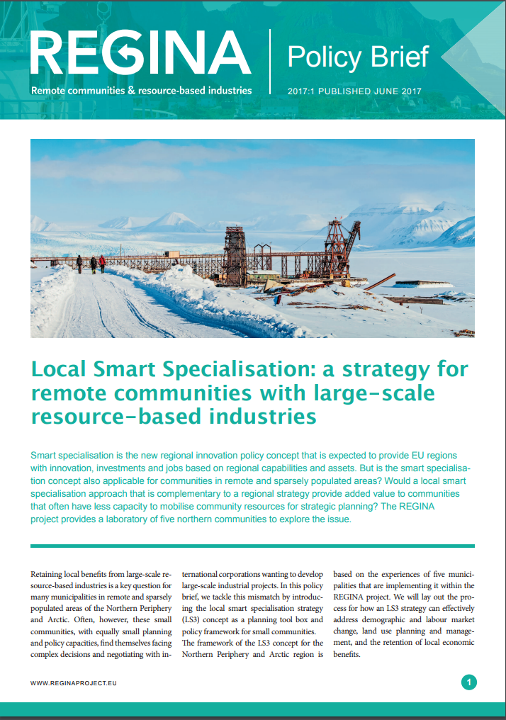 REGINA Policy brief 2017:1: Local Smart Specialisation: a strategy