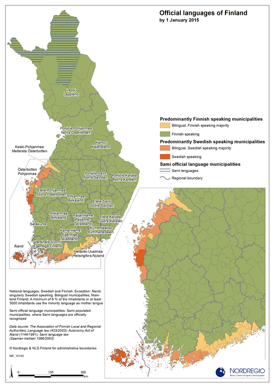 Official languages of finland nordregio official languages of finland publicscrutiny Gallery