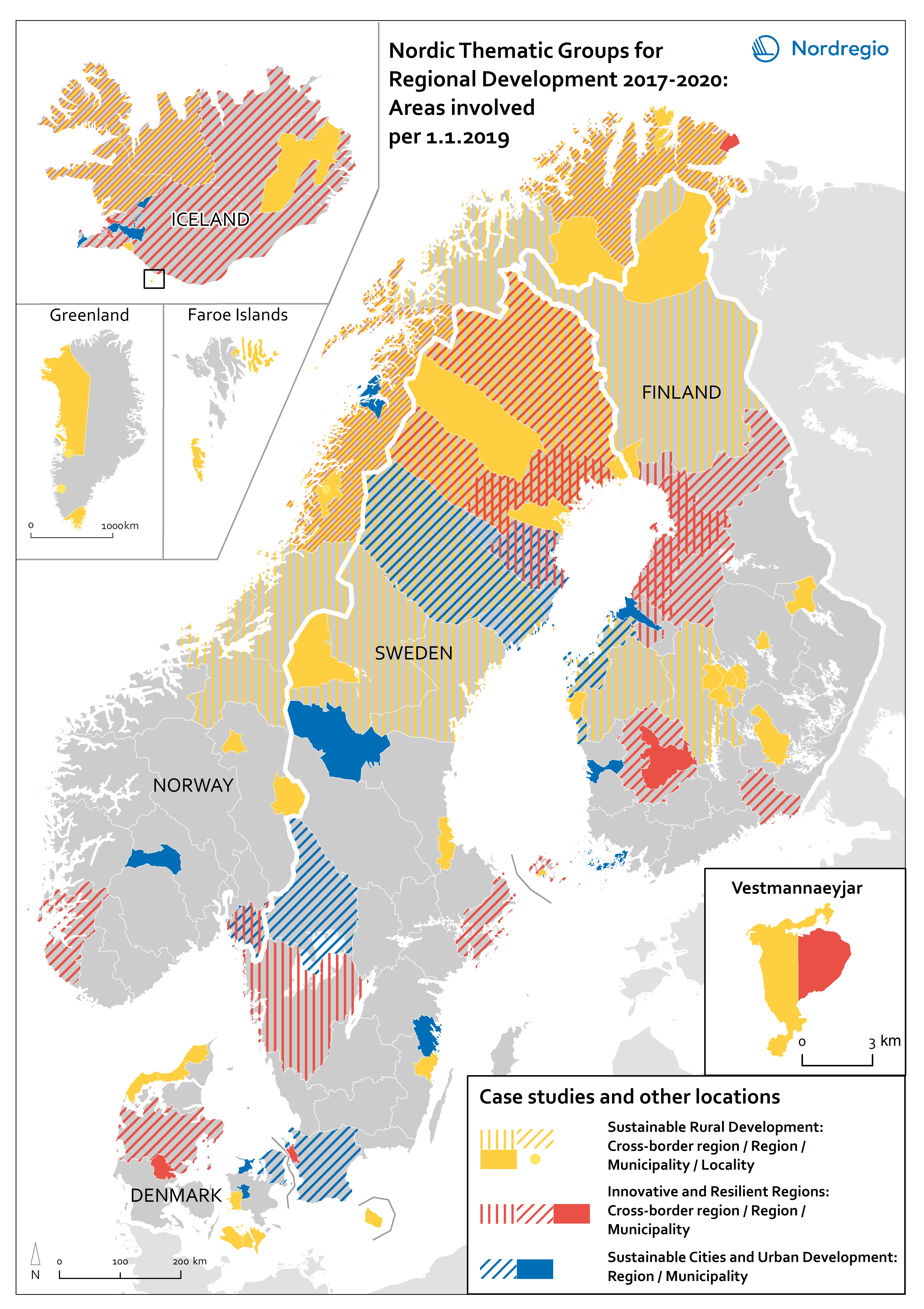 Map of the Nordic region