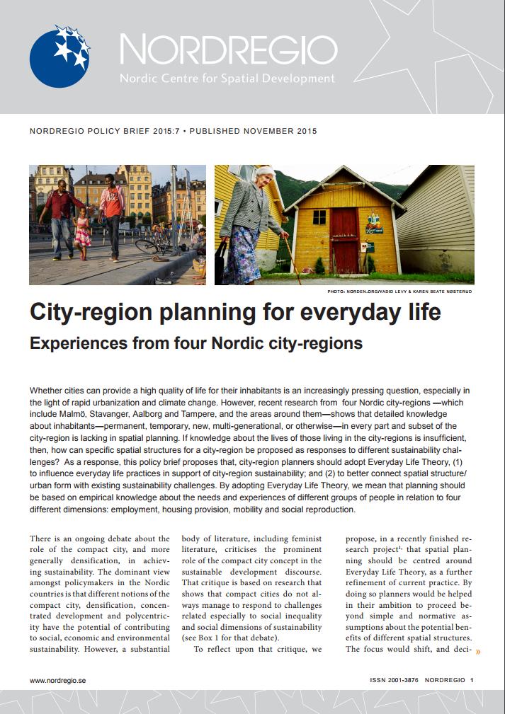 City-region planning for everyday life | Nordregio