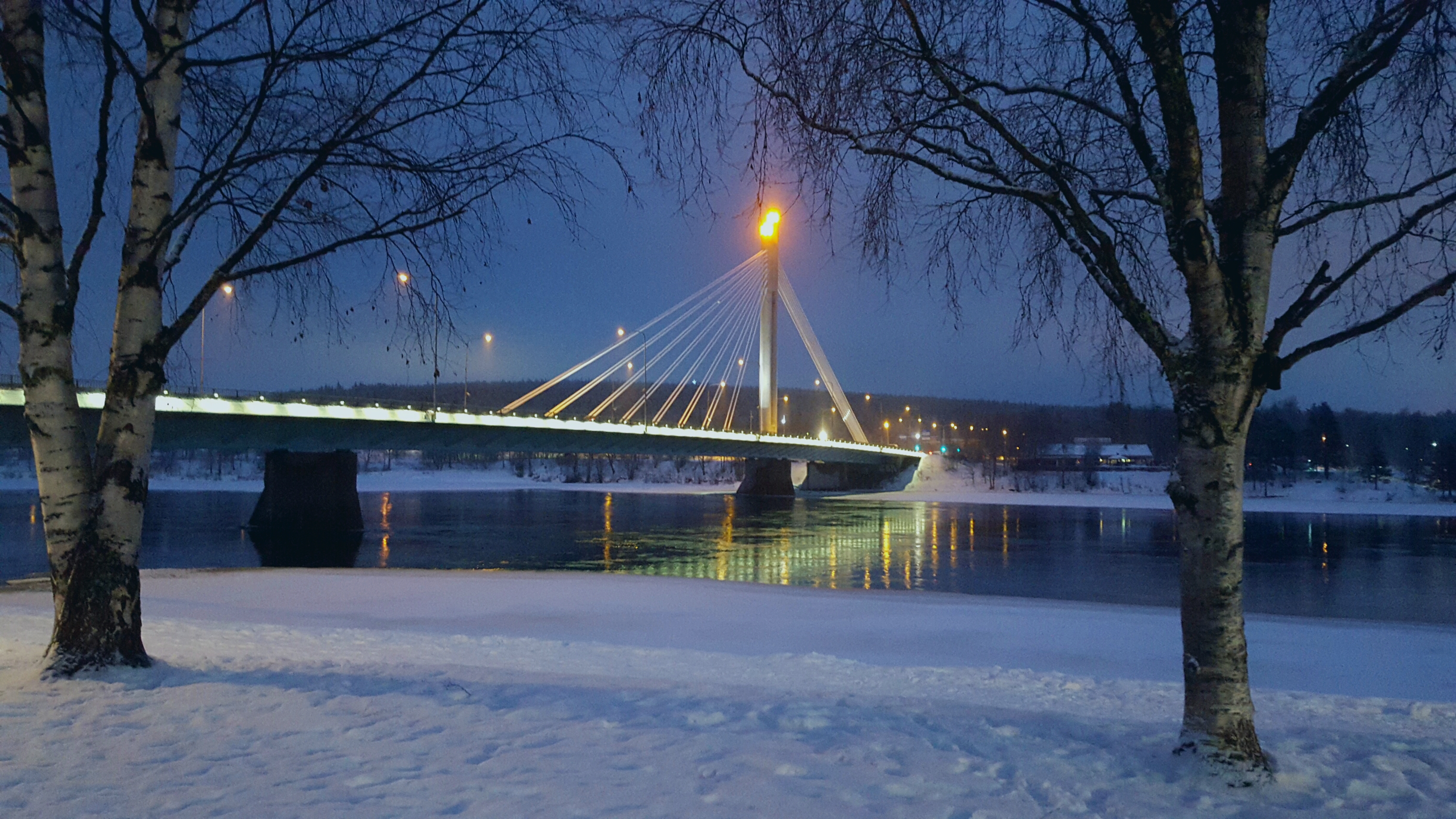 the Landmark Bridge in Rovaniemi, Finland