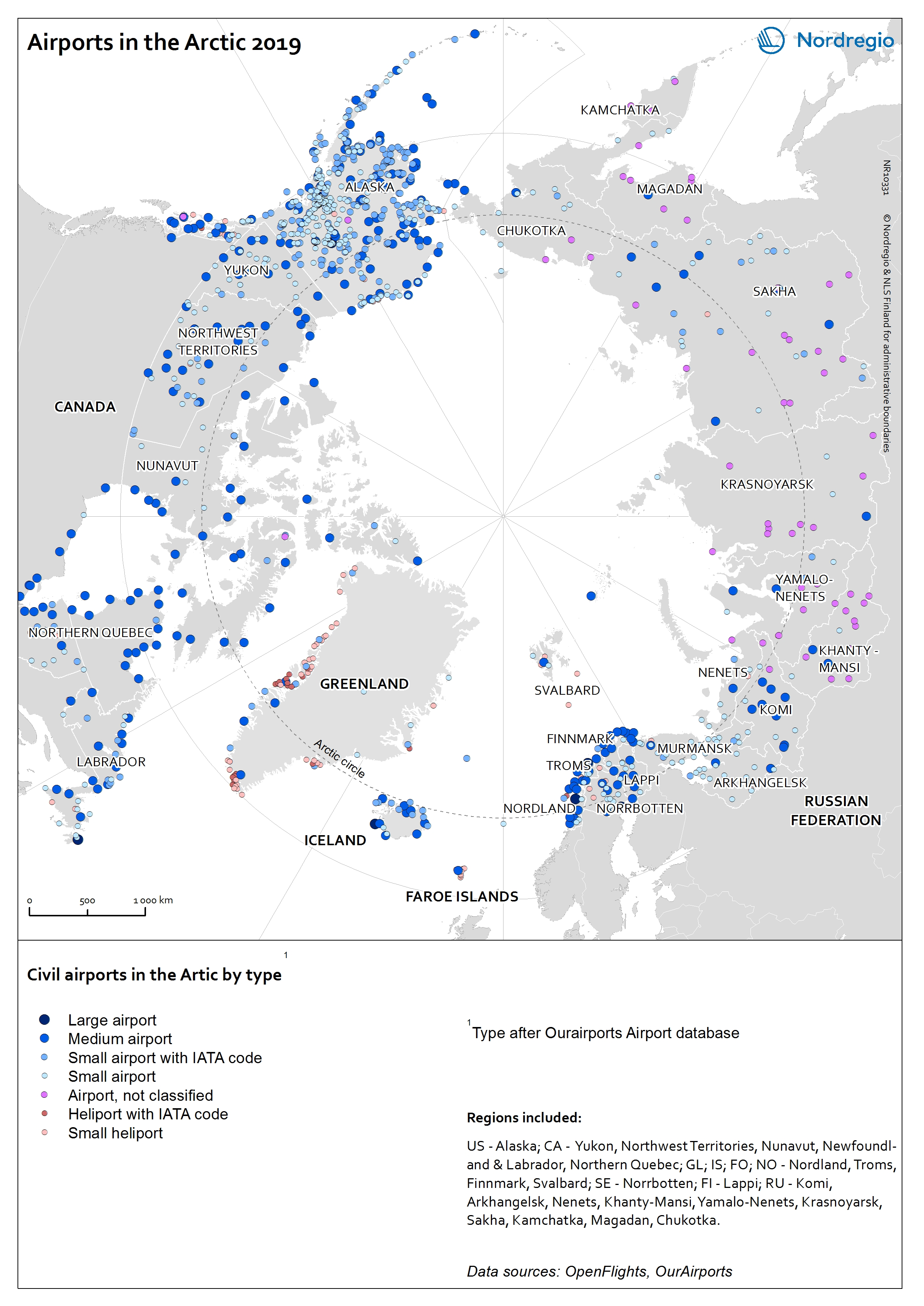 Airports in the Arctic 2019 | Nordregio